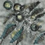 Tekstile billede 36 Textile collage